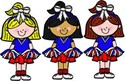 mini cheer girls