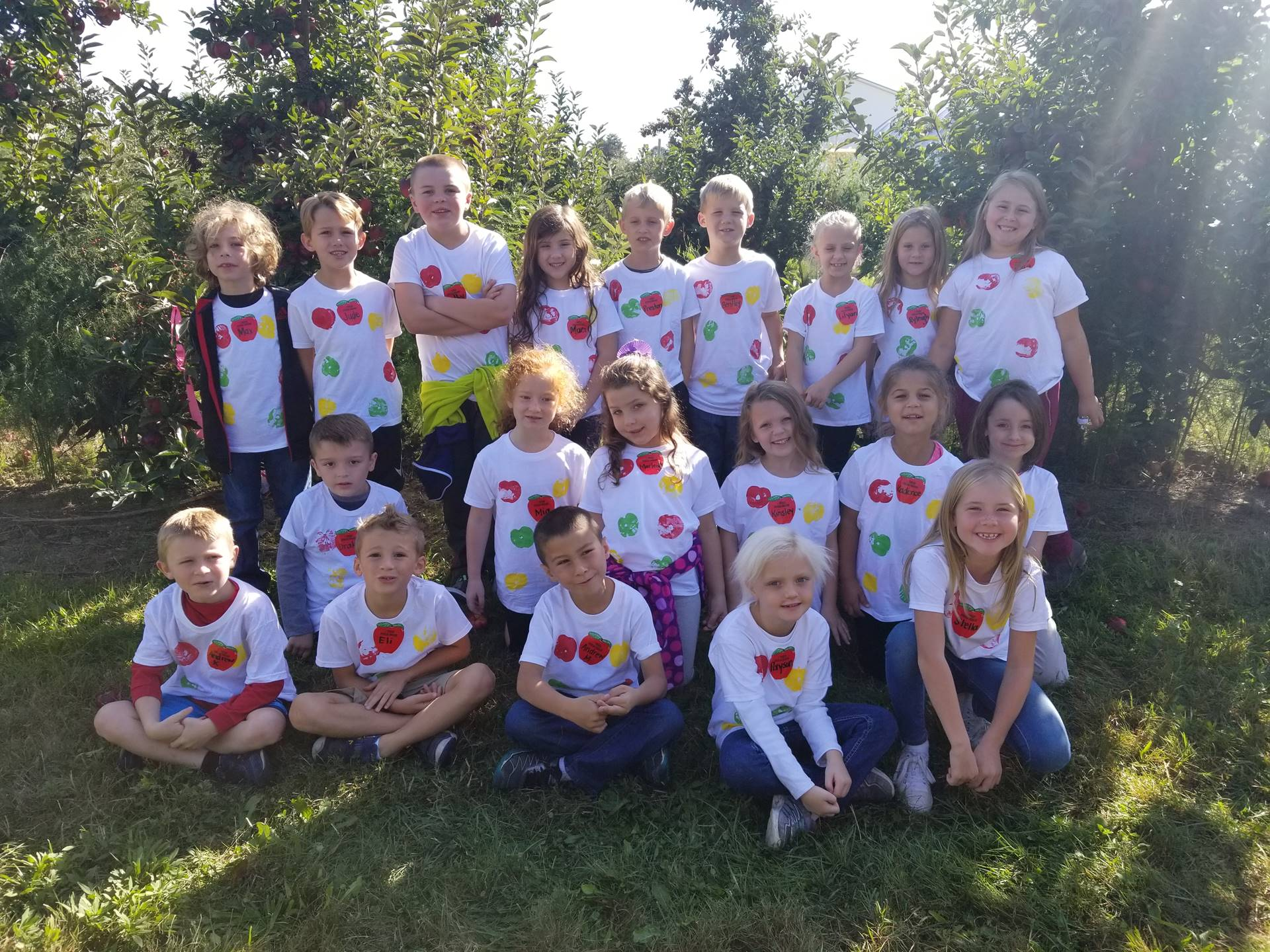 First graders visit Burnham's Orchard