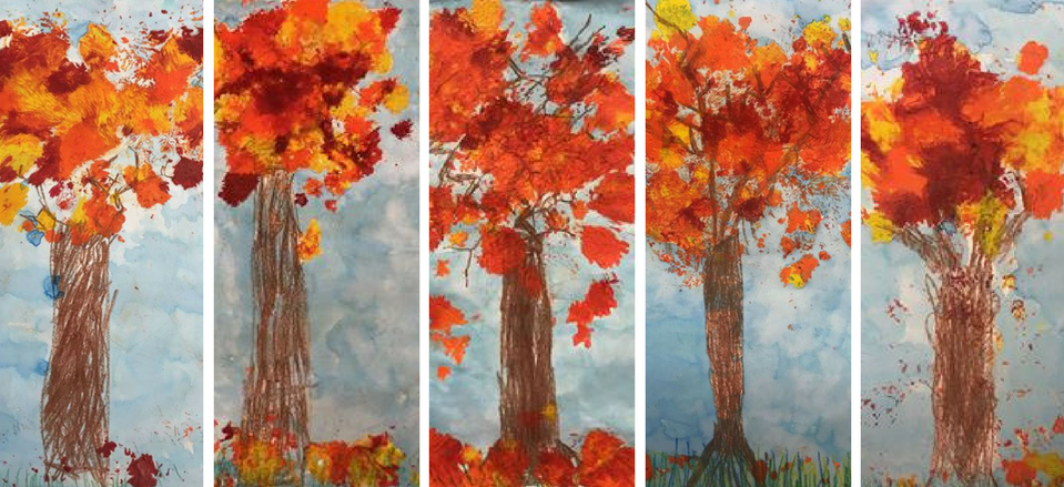 Fall Trees - Grades K & 1, teacher: Mrs. Protzman