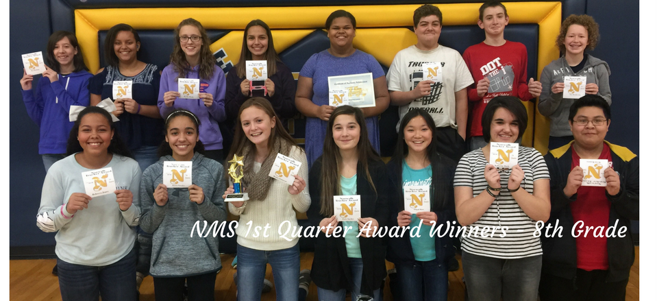 First Quarter Award Winners - 8th Grade