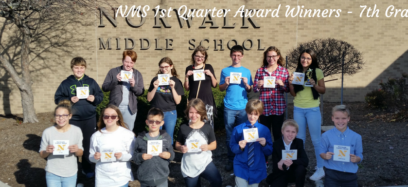 First Quarter Awards - 7th Grade
