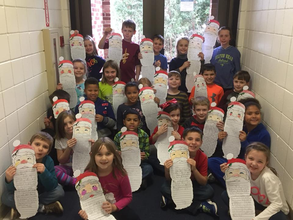 Students wrote letters to Santa