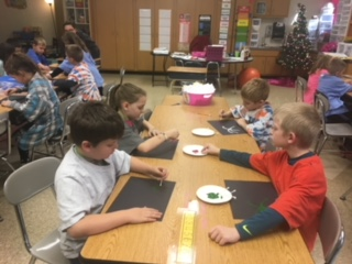 Students learning about Christmas in other cultures
