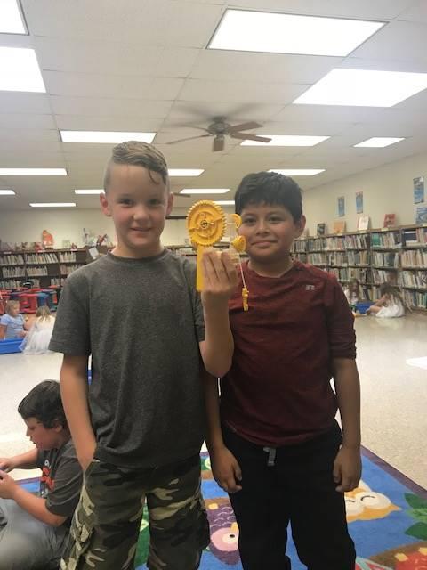 Students enjoy the new Lego STEM lab