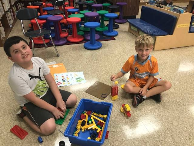 Students enjoy the new Lego STEM lab