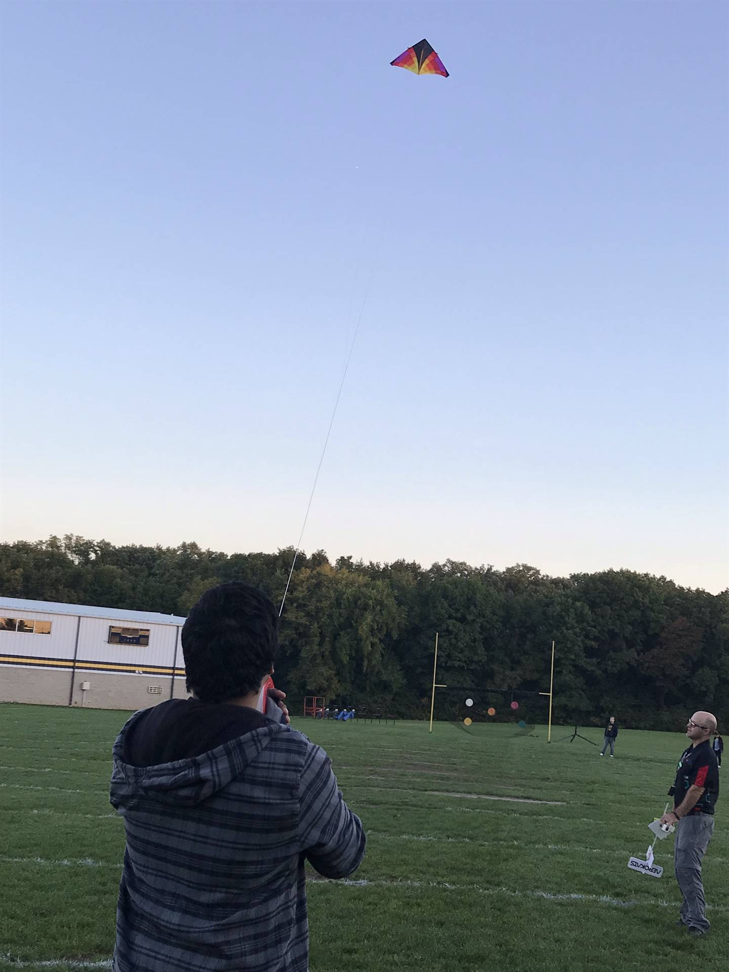 Science class flying kites