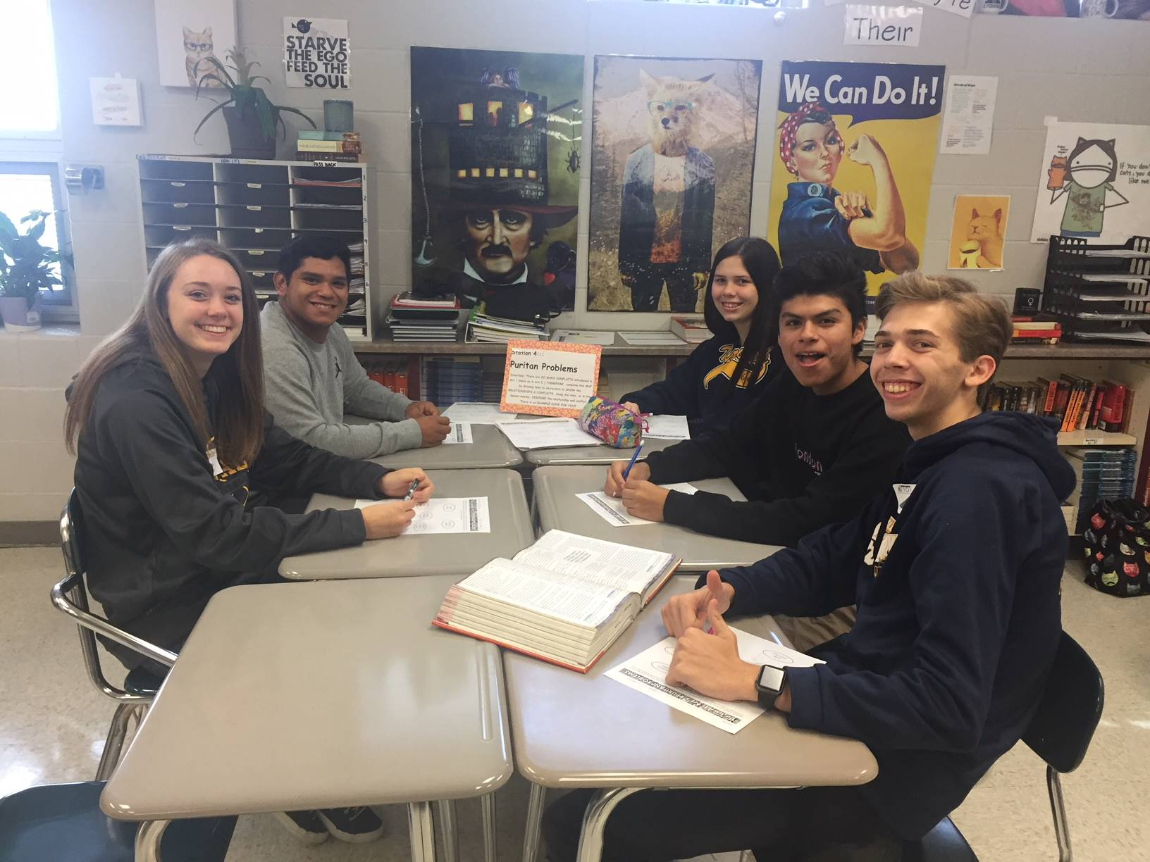 Mrs. Schuster's English students