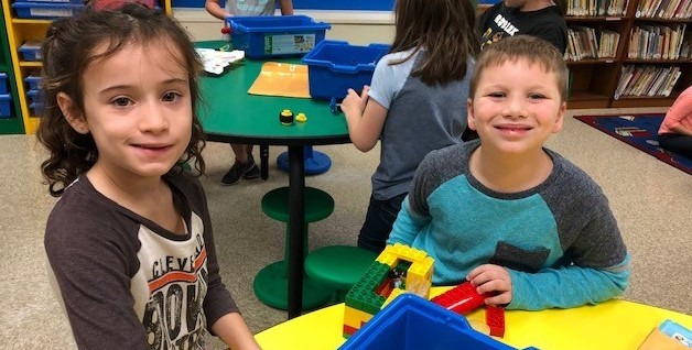 Students in the LEGO STEM lab