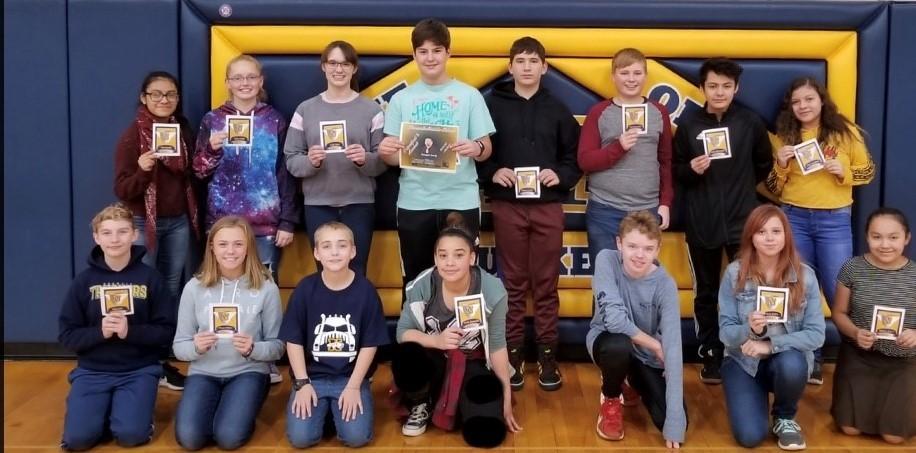 7th Grade Award Winners - November