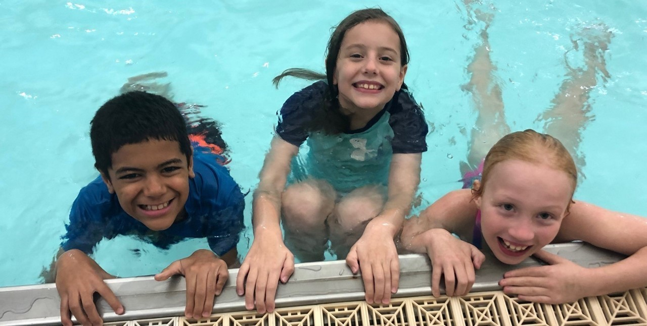 3rd grade students participate in the Swim Program at the Rec Center. The Swim Program is sponsored by Fisher-Titus Medical Center.