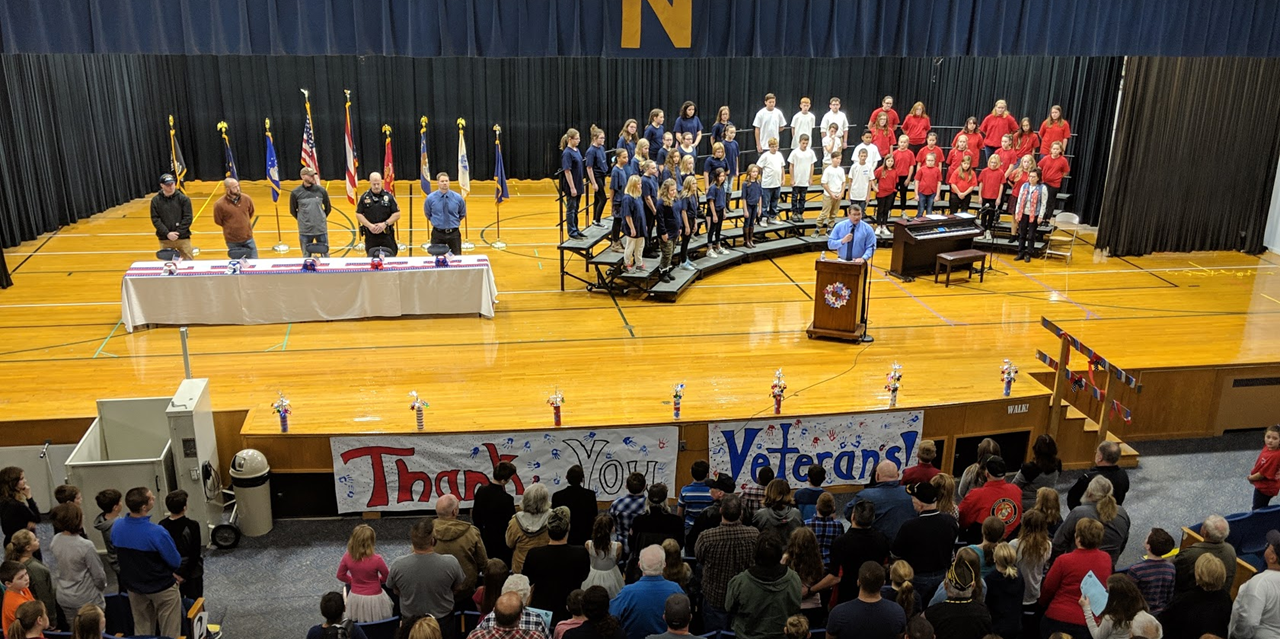 Veterans' Day Celebration at Main Street School