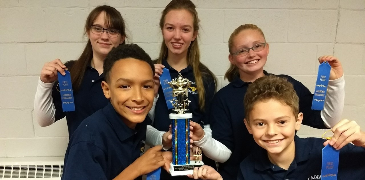 7th Grade Academic Challenge Team Takes 1st Place in Huron County