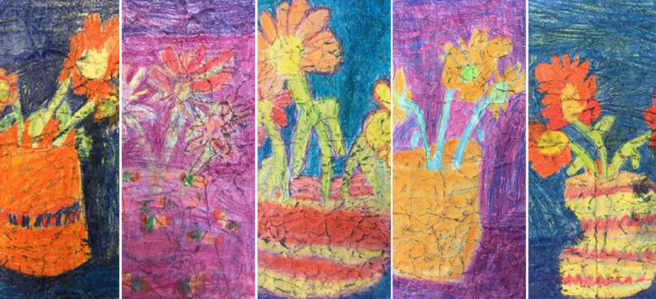 Van Gogh Flowers by 2nd Grade Students