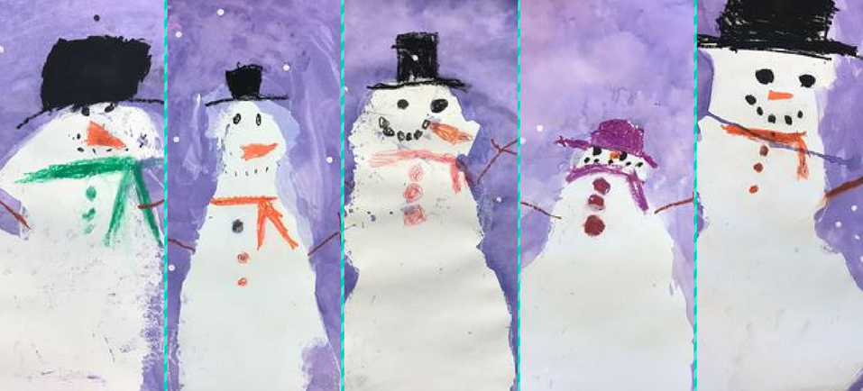 Snowmen by Grade K Students