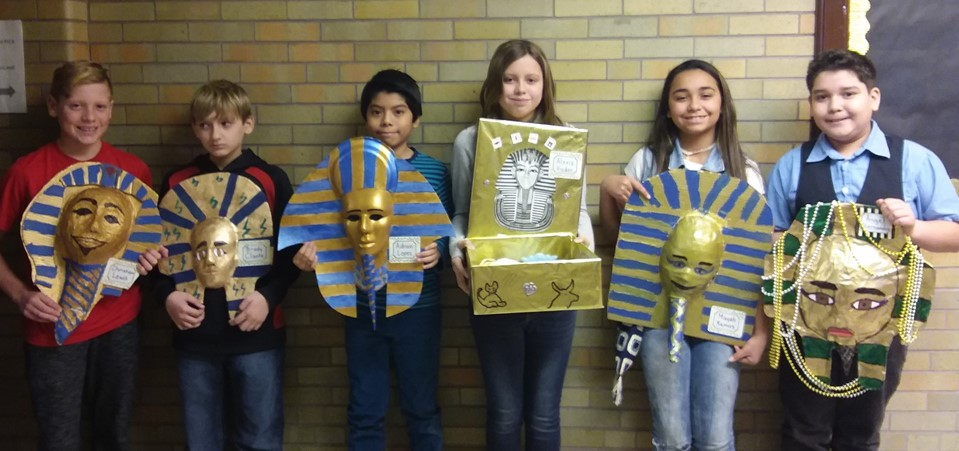 "Main Street School students presented ""A Night at the Museum"" for their social studies project on Egypt"