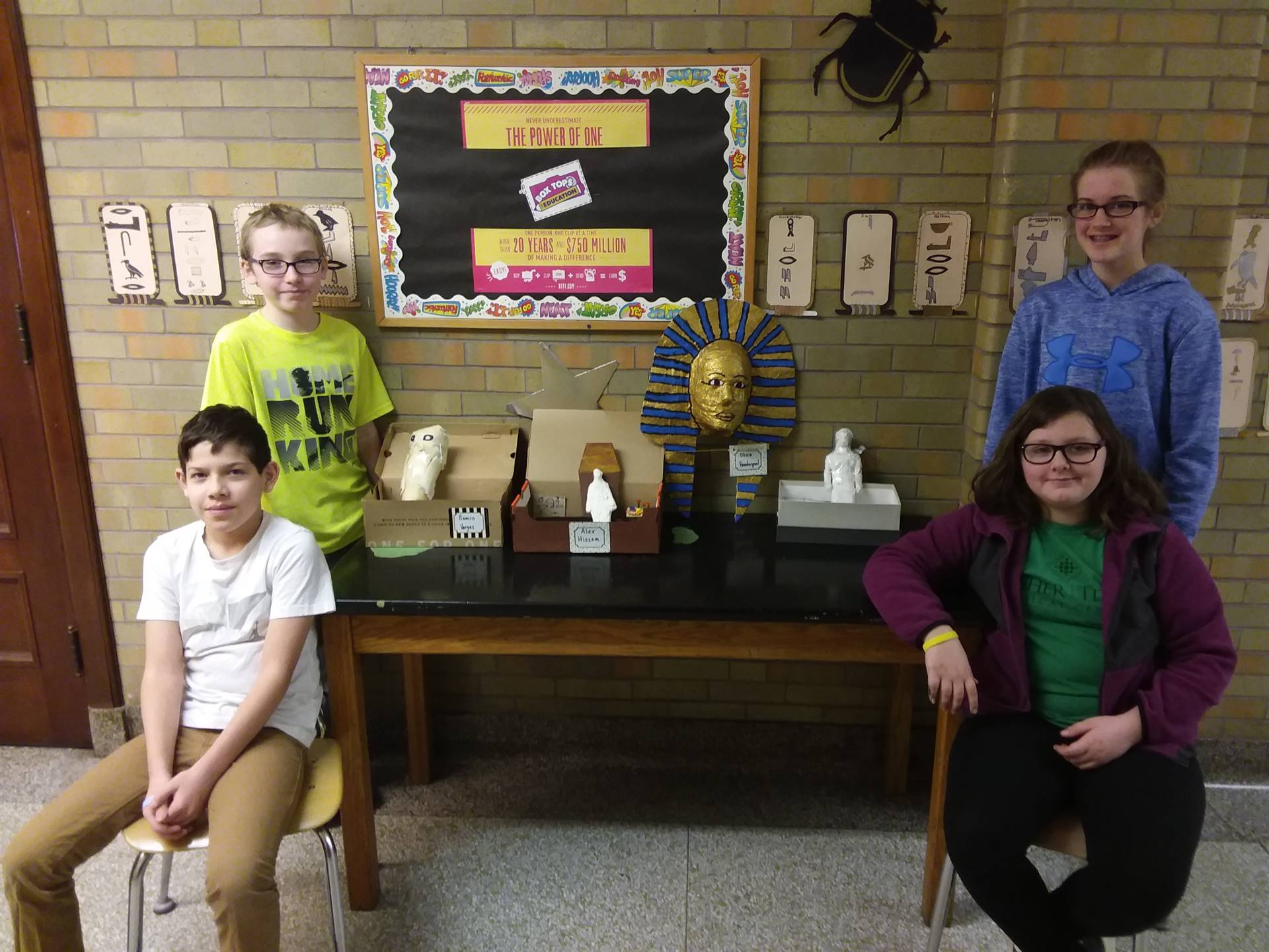 "Main Street School students presented ""A Night at the Museum"" for their social studies project on Eg"