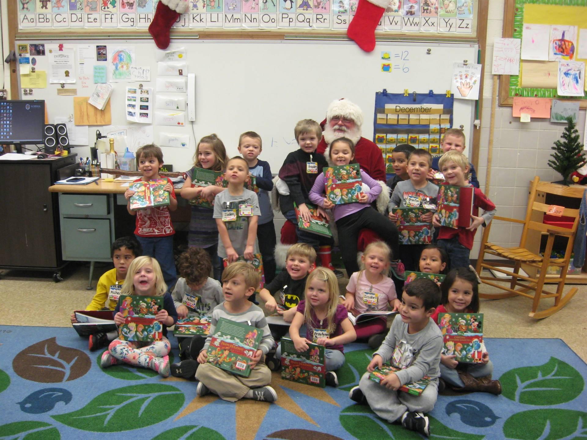 Santa visits preschool