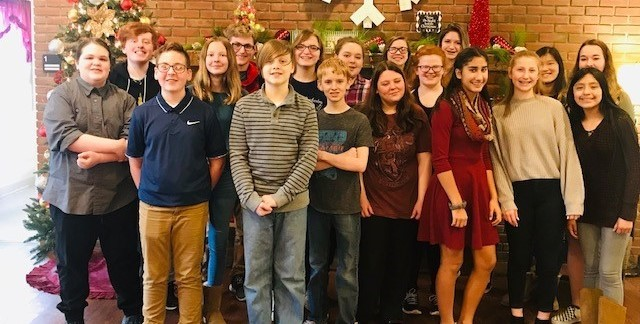 8th grade orchestra students entertained residents at Gaymont Nursing Center