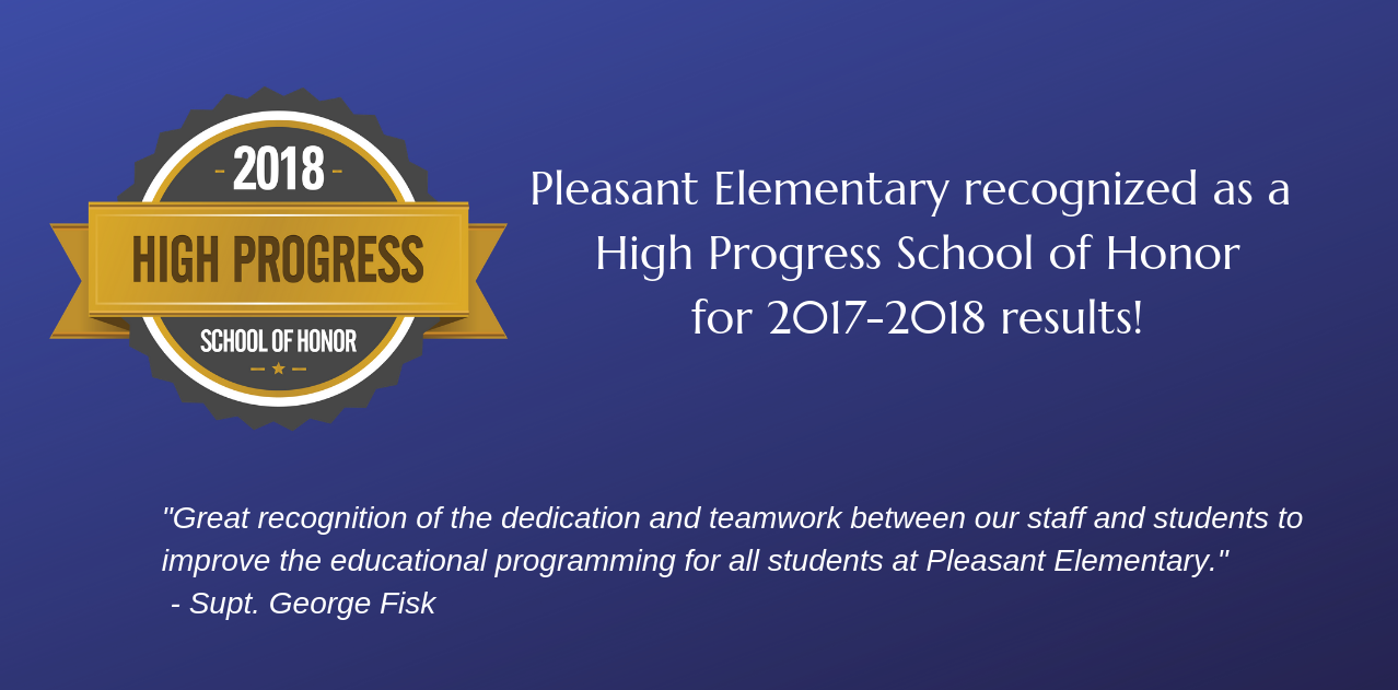 Pleasant Elementary recognized as a High Progress School of Honor by ODE