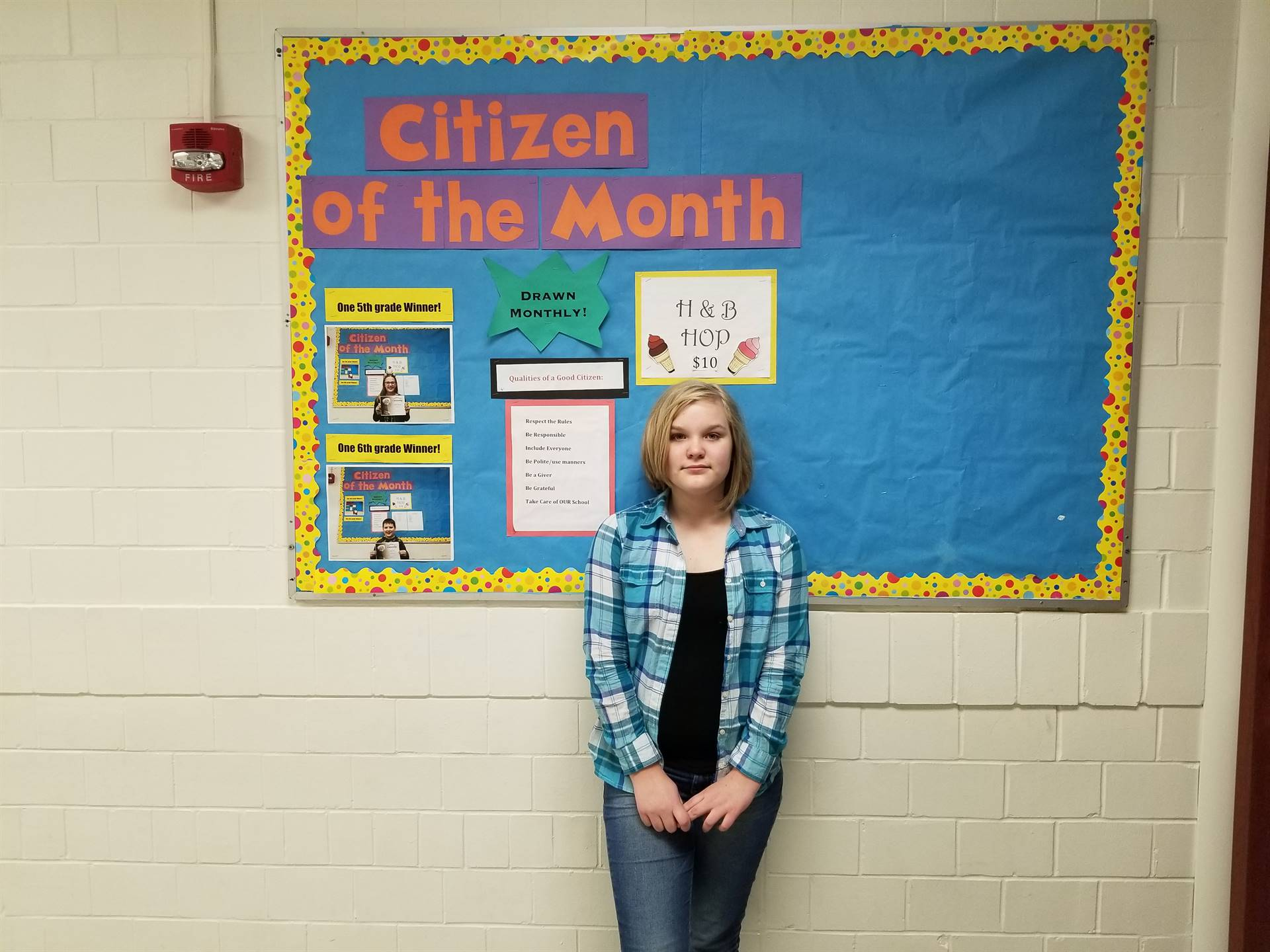 5th Grade Citizen of the Month (January, 2018)