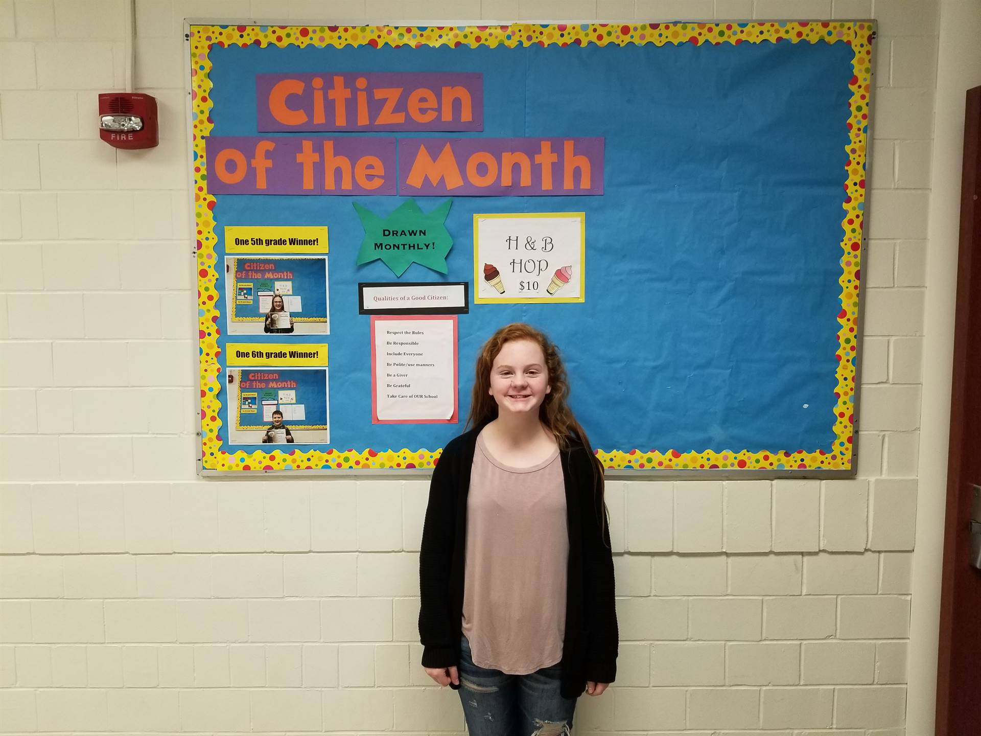 6th Grade Citizen of the Month (January, 2018)