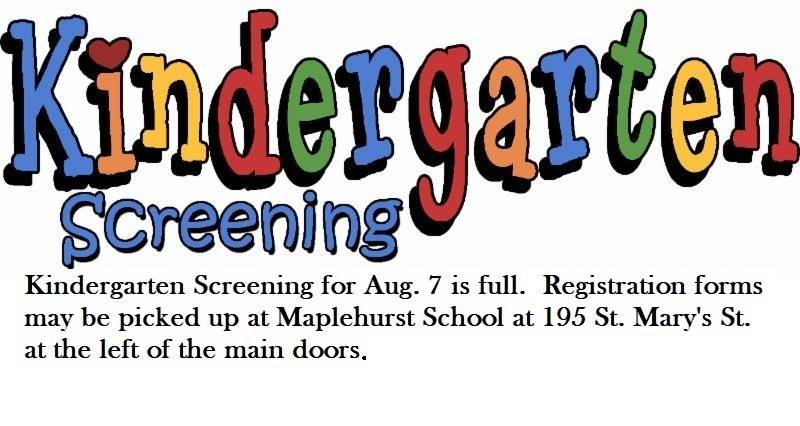 Kindergarten Screening 2018