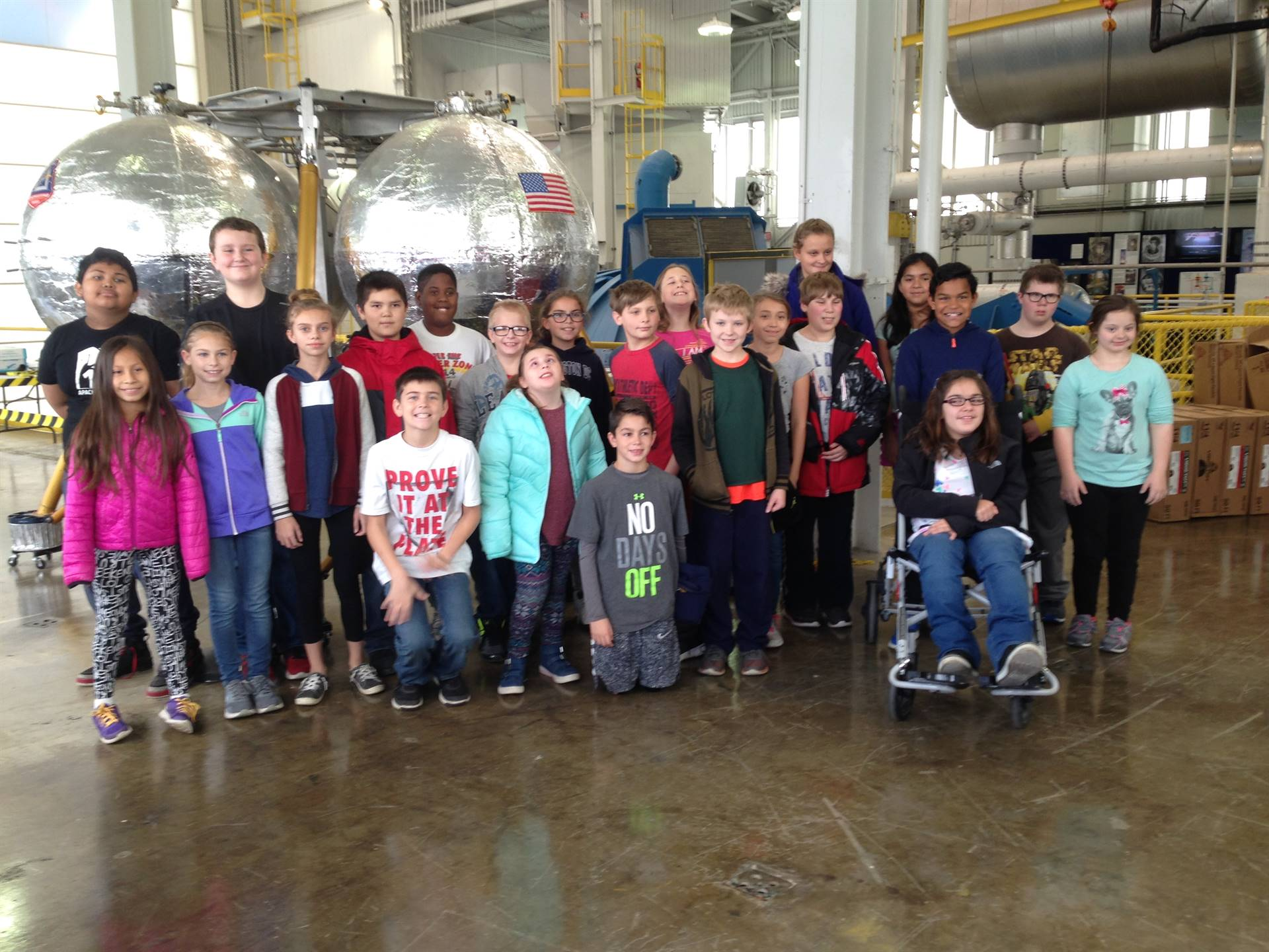 Mrs. Steffanni's class on a field trip to NASA