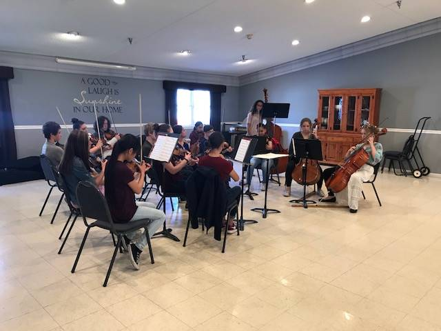 NMS Students perform at Gaymont Nursing Center