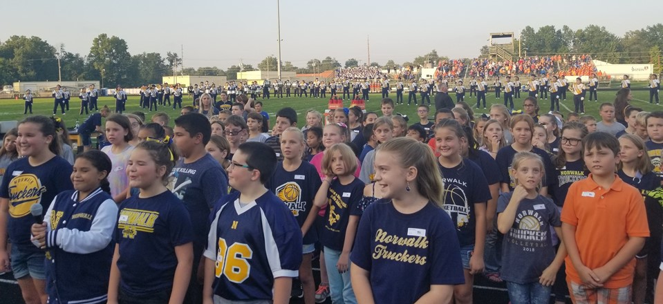 4th Grade Students Singing our National Anthem (9/14/18 football game)