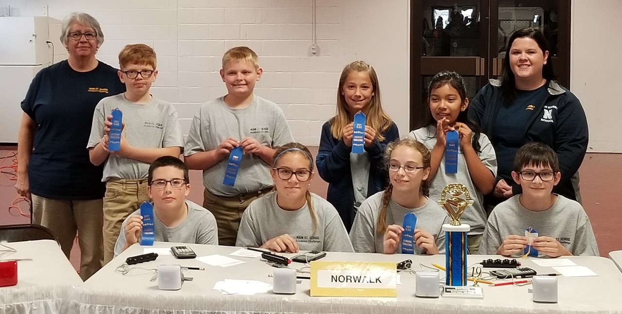 5th grade Academic Challenge Team won 1st place in the Huron County meet