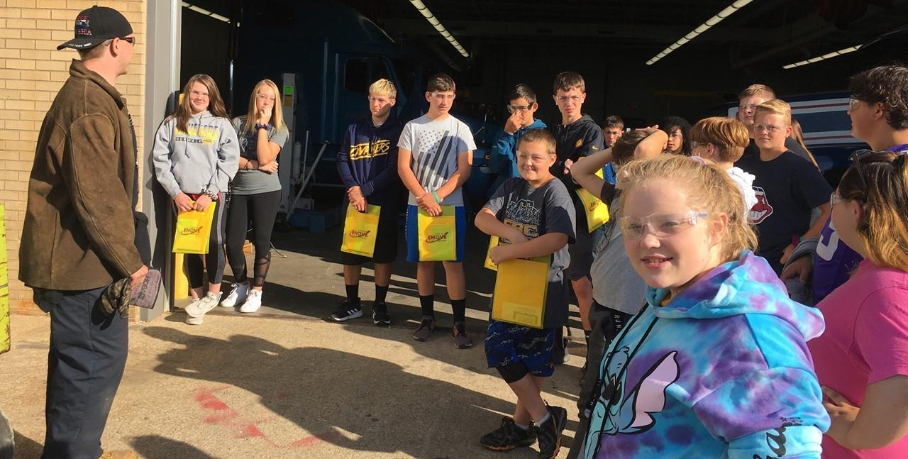 8th graders visiting EHOVE