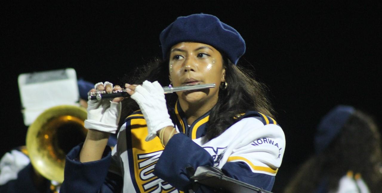 Band Member during halftime
