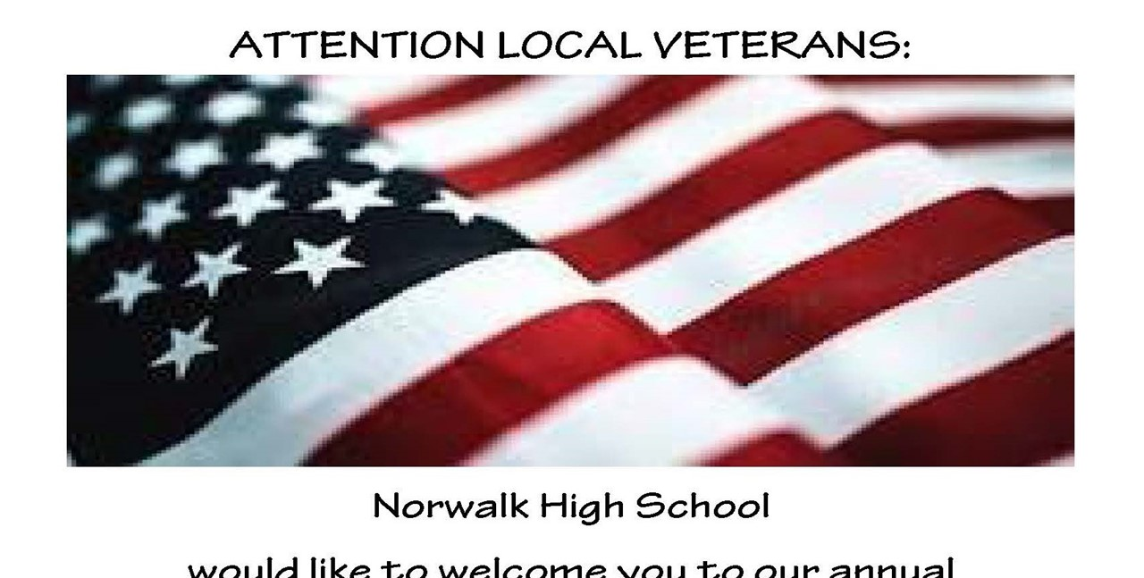 Attention Veterans - invitation to assembly on Nov. 11 at 1:45 pm