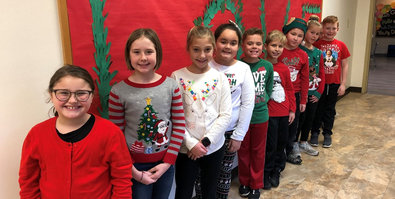 Christmas Shirt Day at Pleasant Elementary