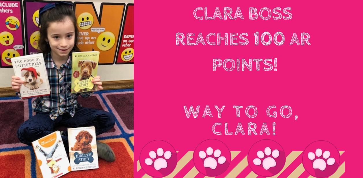 Clara Boss reaches 100 AR points