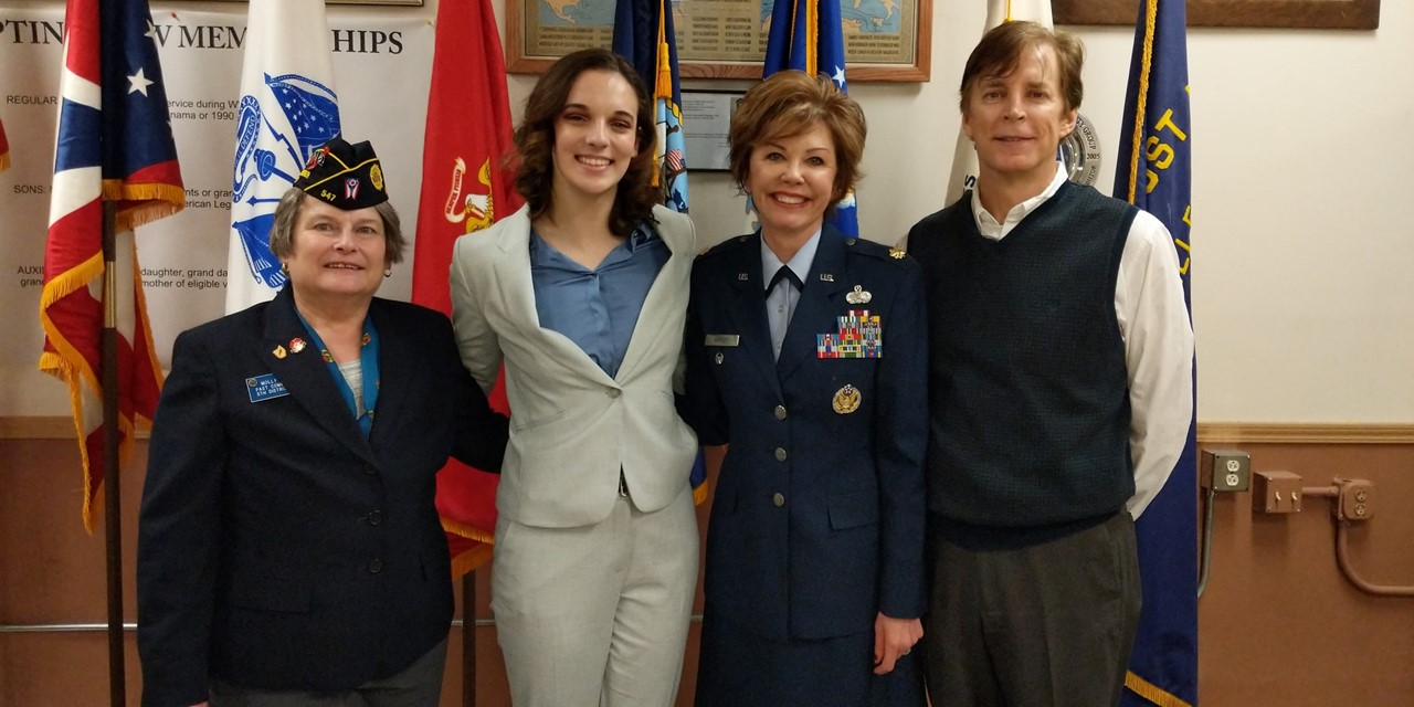 Congratulations, Anna Little, who placed first in the 5th District American Legion Oratorical on 2/24.