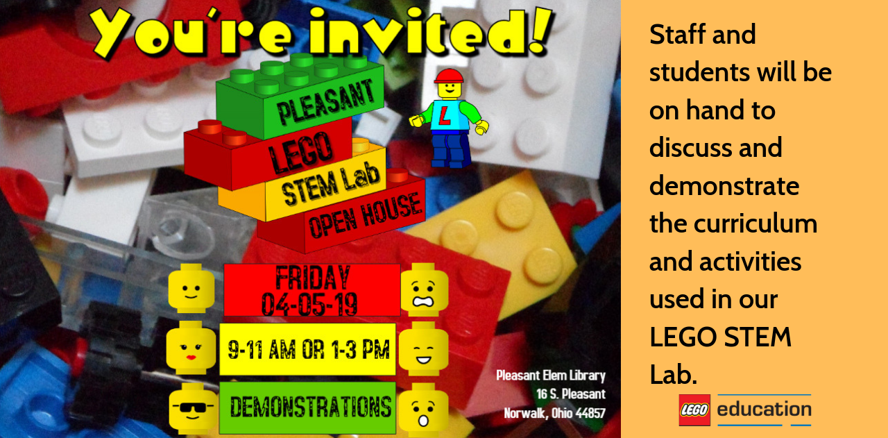 LEGO lab open house on April 5, 2019