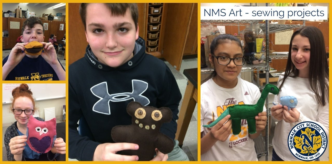 NMS Art sewing projects
