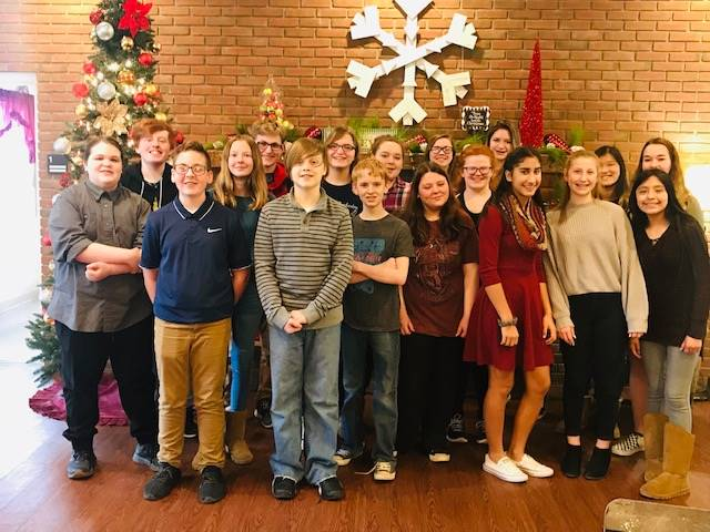 8th grade orchestra visiting Gaymont Care Center