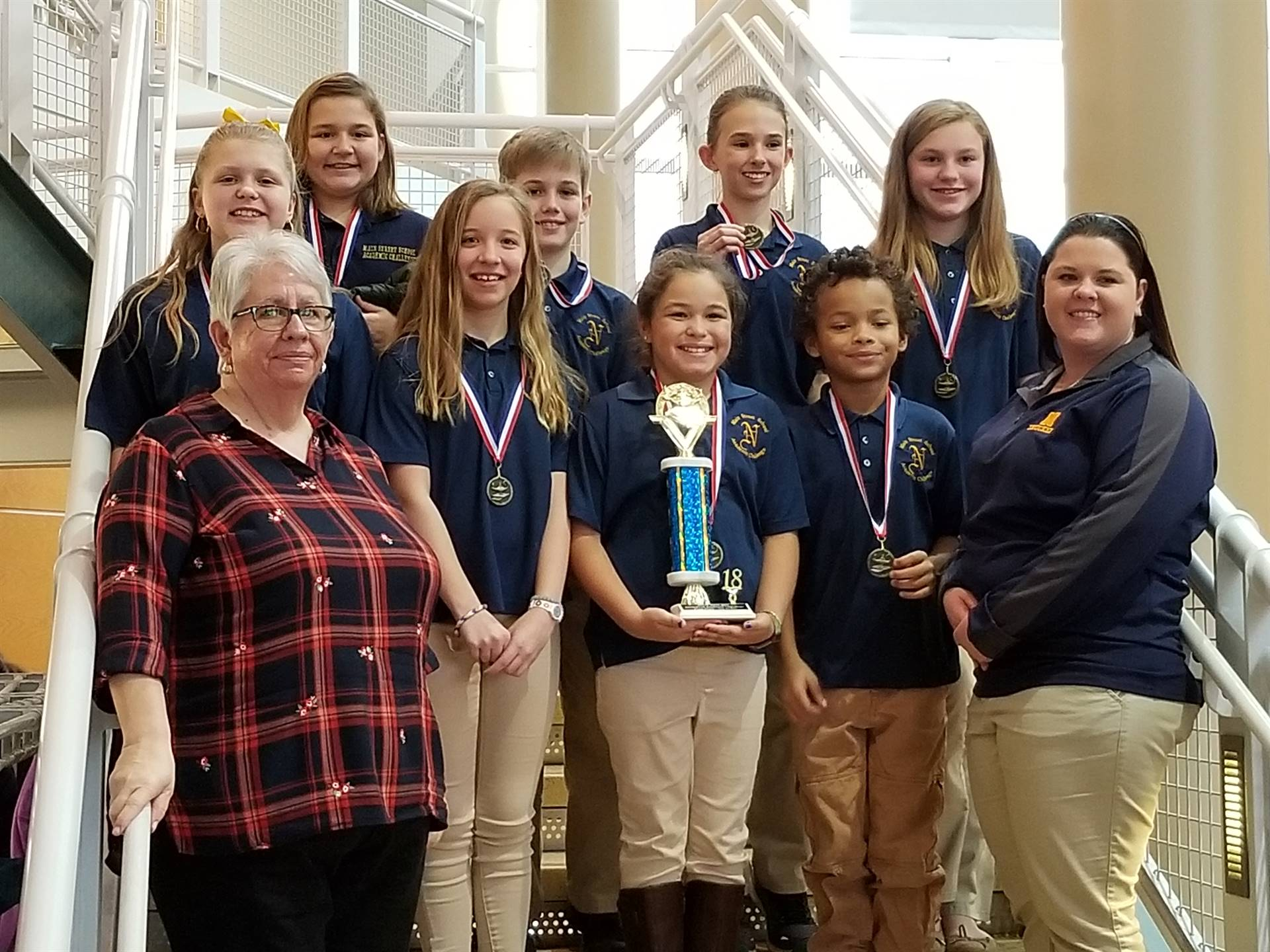 5th Grade Champions - Quad County Academic Challenge