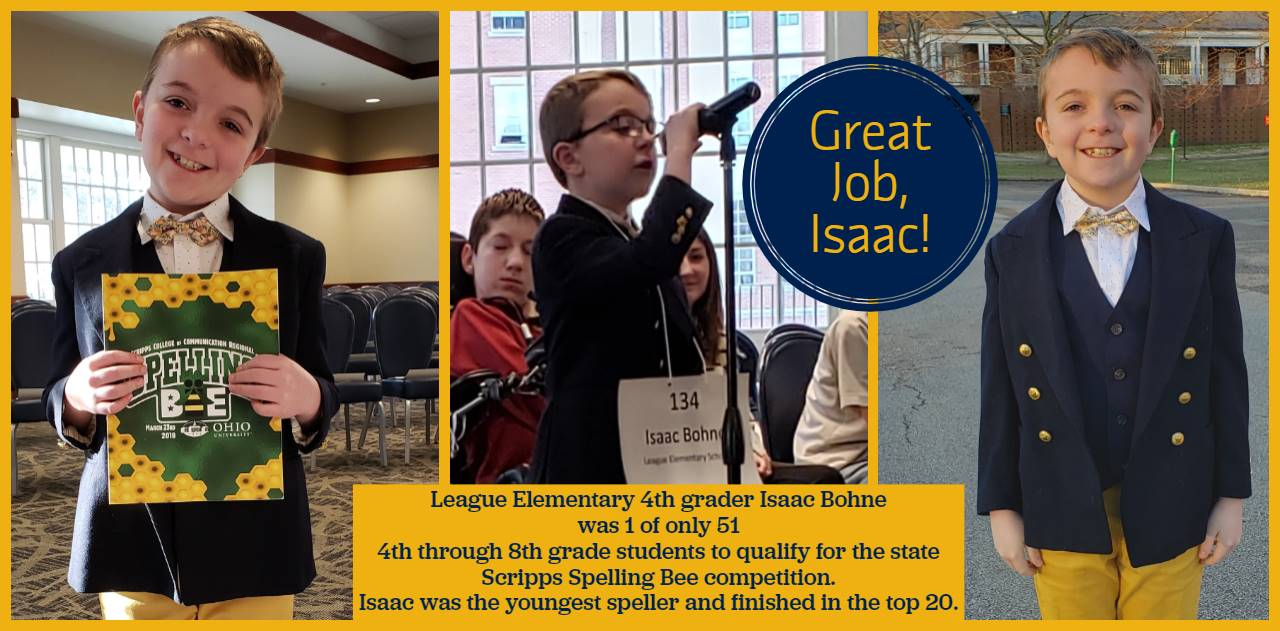 Isaac Bohne - Spelling Bee at Ohio University - youngest contestant and top 20 finisher