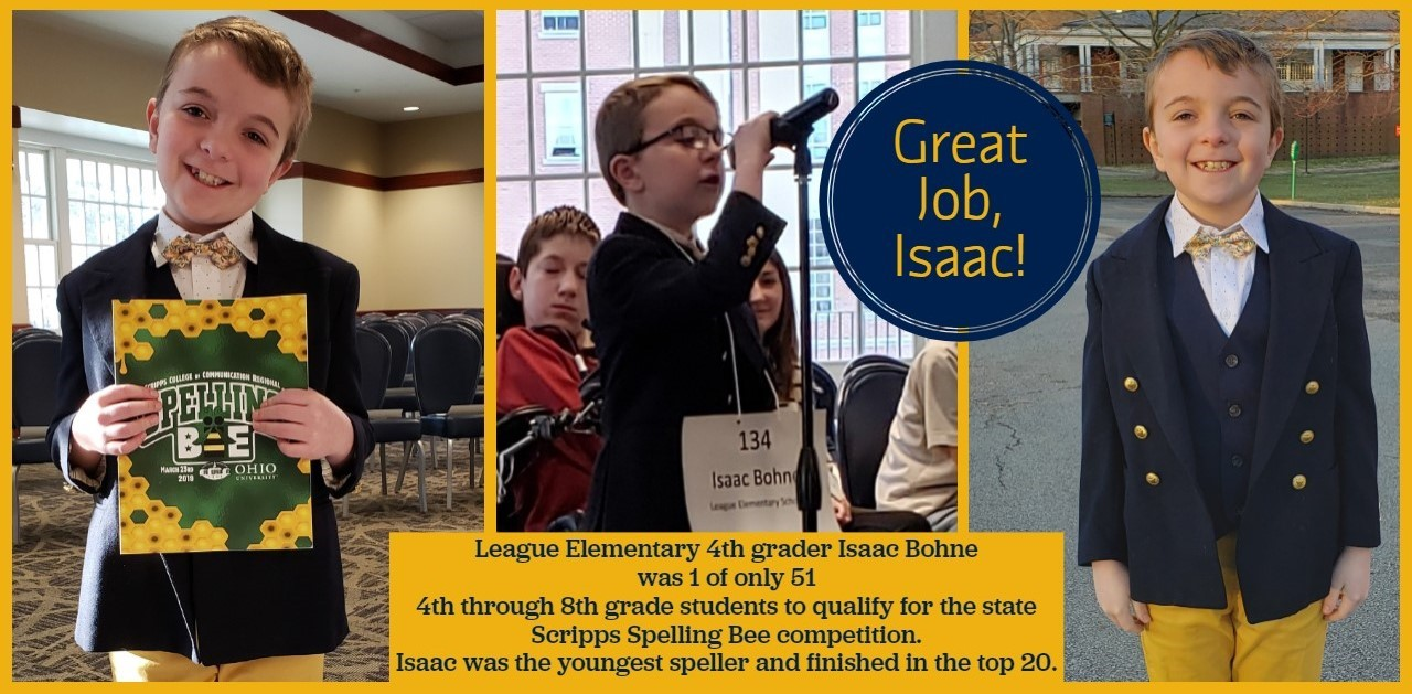 Isaac Bohne, youngest contestant at the Scripp's Spelling Bee competition, and placed in the top 20.