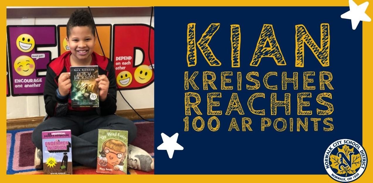 Kian Kreischer reaches 100 AR points