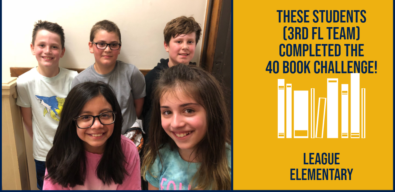Students who completed the 40 book challenge
