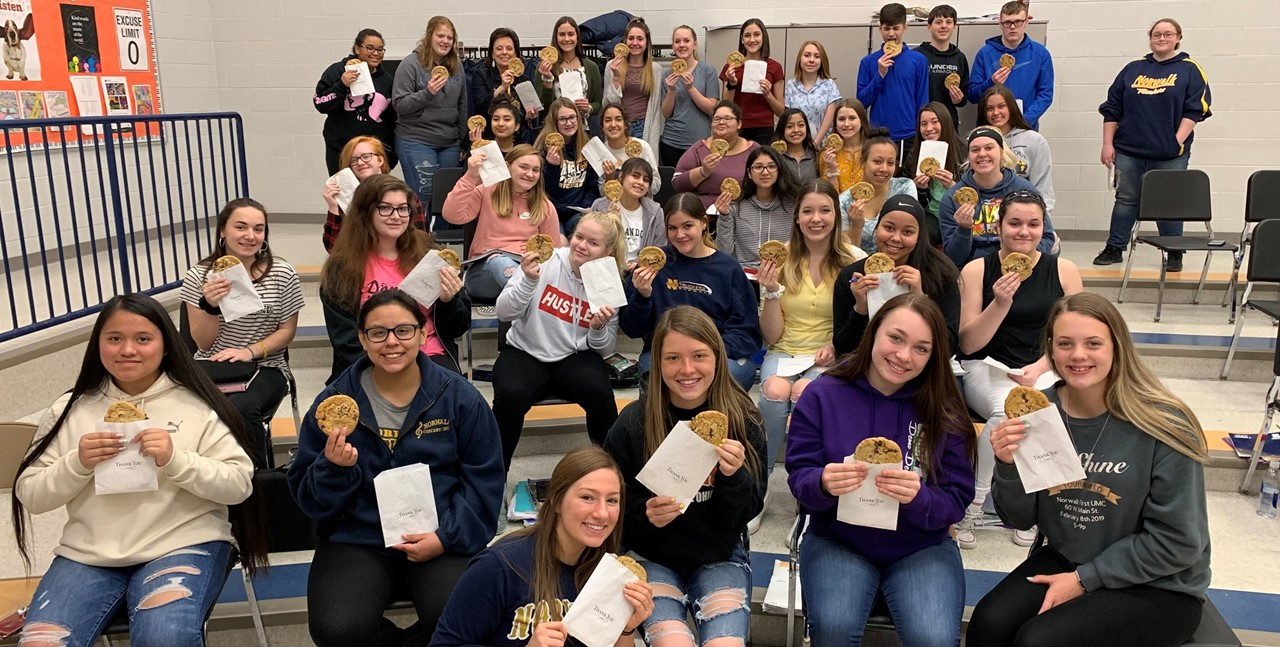 Music Boosters provided cookies for students