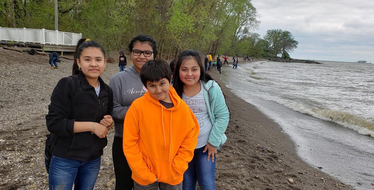 Students visit Old Woman Creek