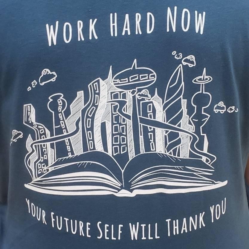 Back of academic tshirt
