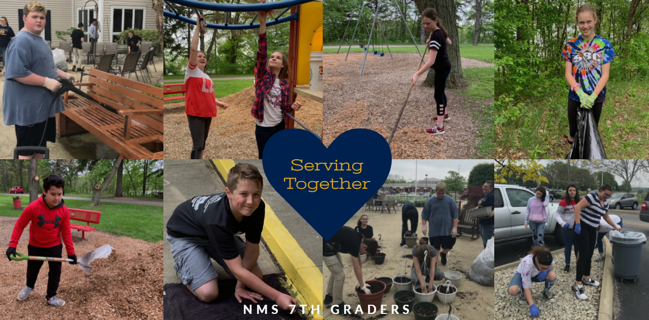 serving together - 7th grade students