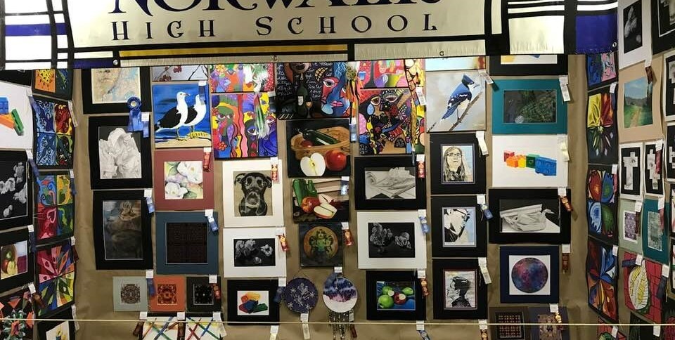NHS student art work displayed at the Huron County Fair