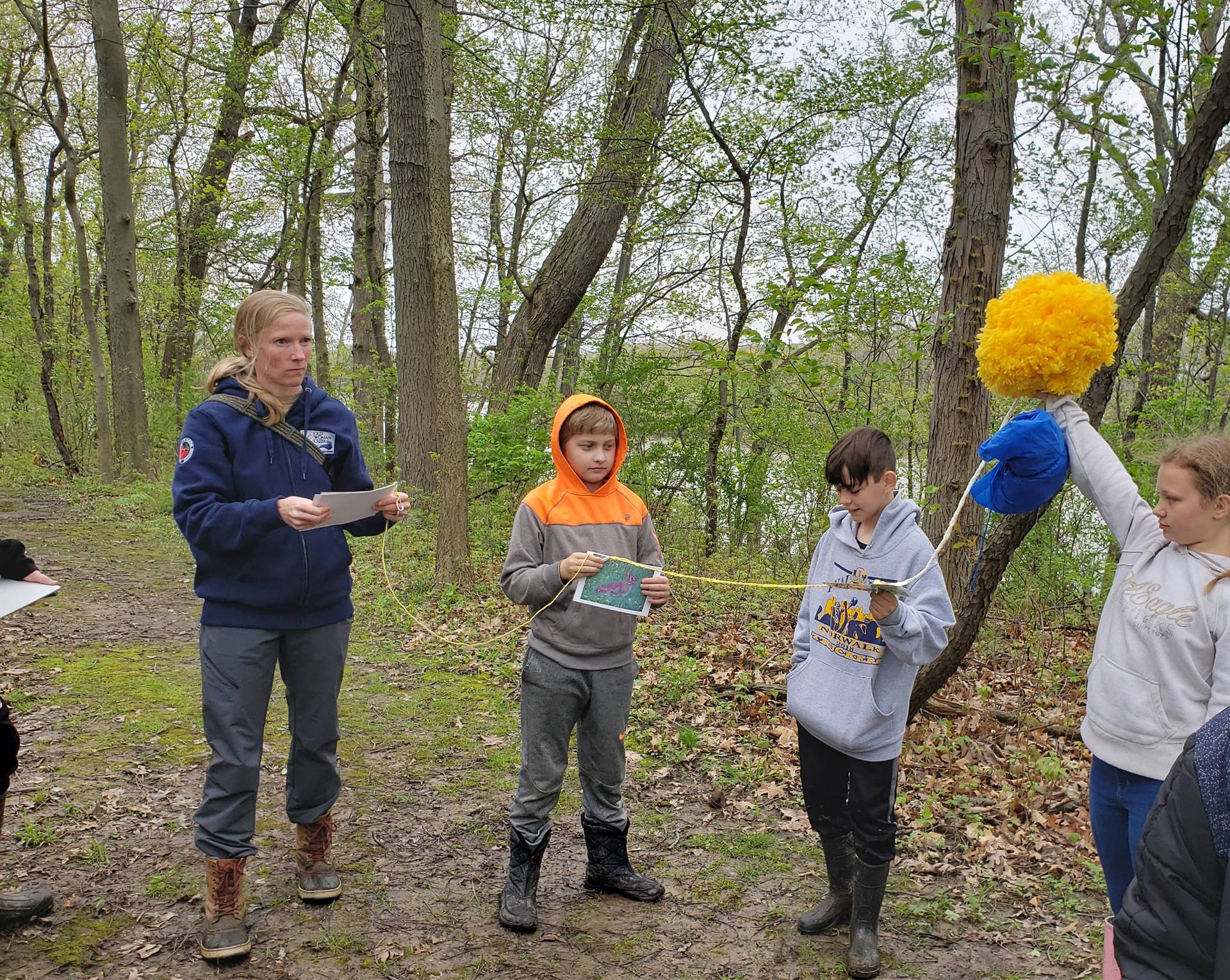 Students at Old Woman Creek